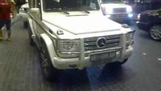 Supercar Traffic Jam + Car Spotting 20/01/2012 at Dubai Mall Valet Parking + No.1 of Dubai (G55 AMG)