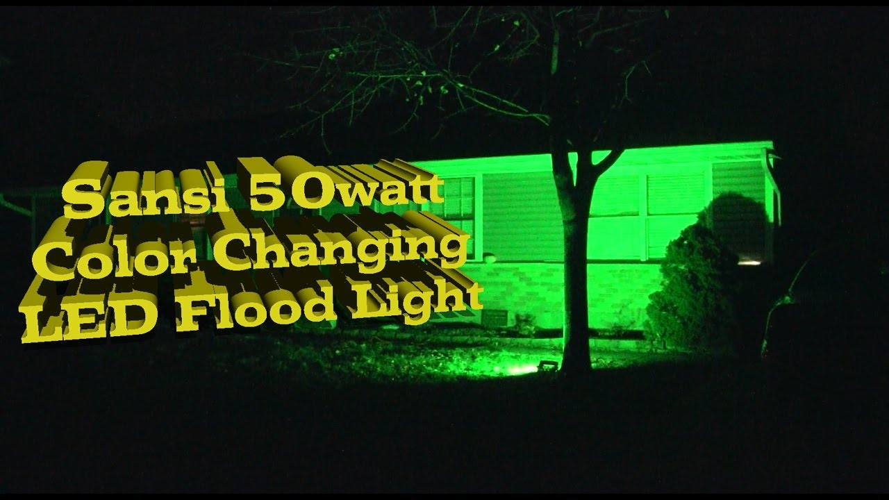 Product Review Sansi 50w Rgb Color Changing Led Flood Light Outdoor With Remote Control