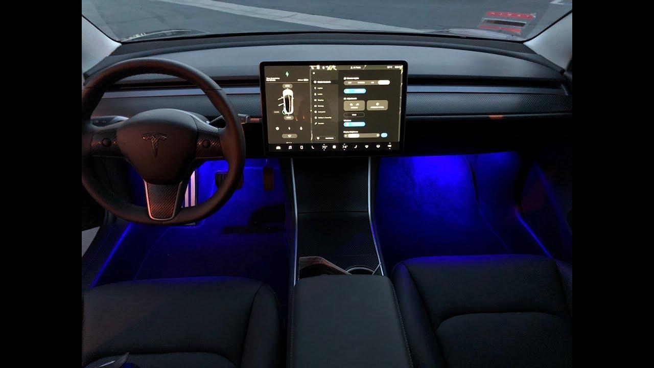 Installing your TESLA Model 3 Colored LED Interior ...