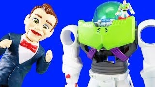 Imaginext Toy Story 4 Buzz Lightyear Robot ! Benson Puts Forky And Woody In Jail ! Part 2