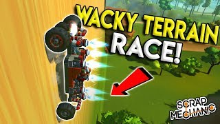 FUNNY WACKY TERRAIN RACE! - Scrap Mechanic Multiplayer Challenge - Build Challenge