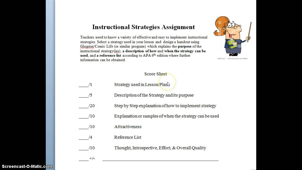 Student Taught Lesson Instructional Strategies Screencast Youtube