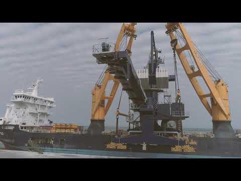 SAL: MV Calypso, loading Siwertell ship unloader