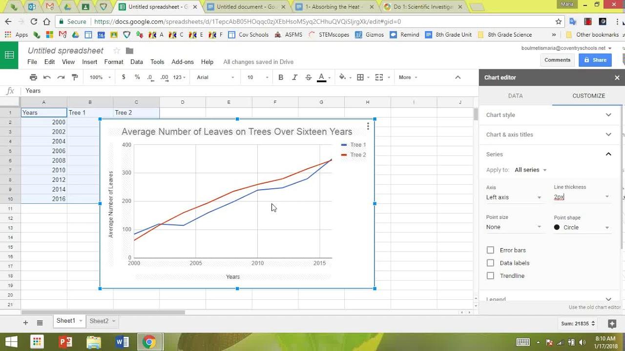 Making a Multi-Line Graph Using Google Sheets 1/2018