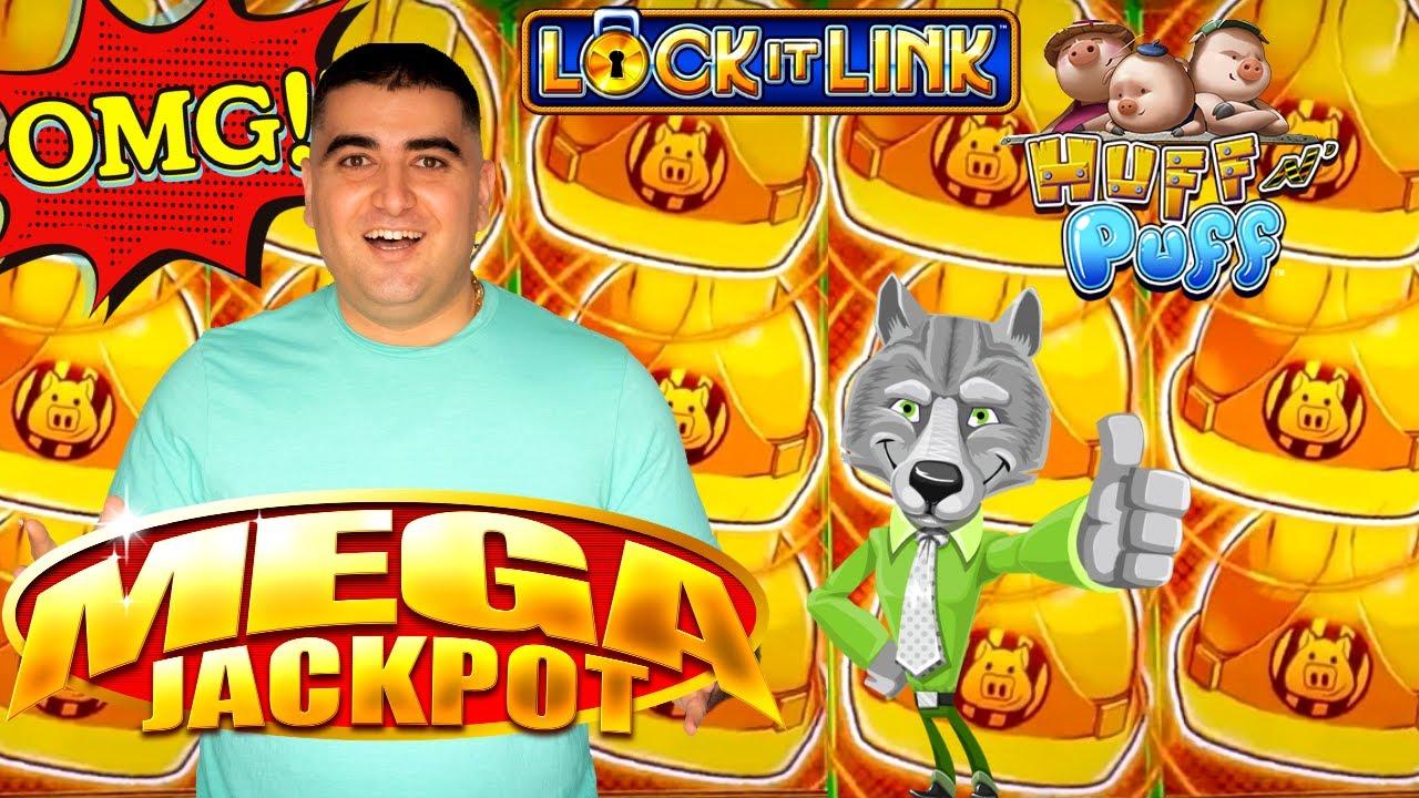 Huff N Puff Slot Machine HUGE HANDPAY JACKPOT - New Slot Machine Max Bet Bonus & BIG WIN !MUST WATCH