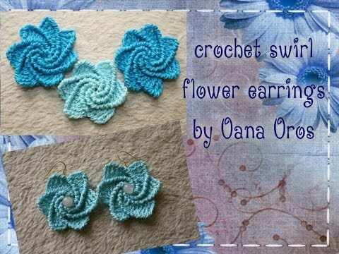 crochet spiral earrings - YouTube