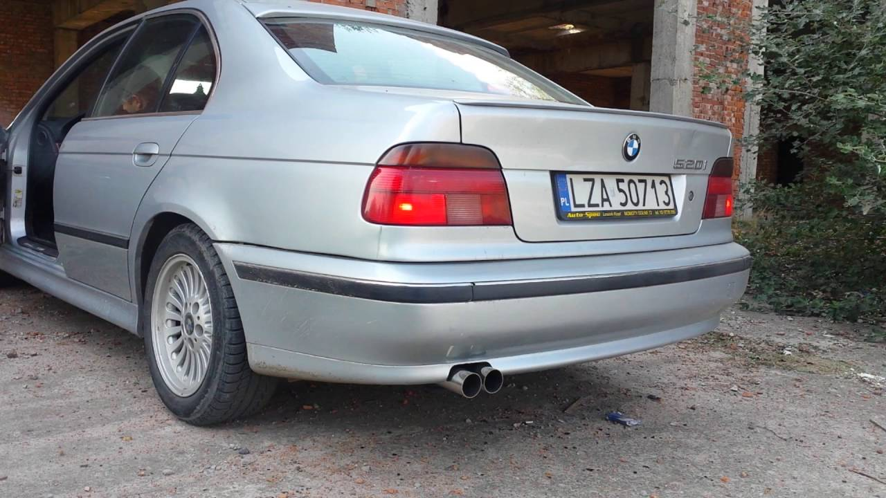 Bmw 520i E39 Custom Straight Piped Exhaust Youtube