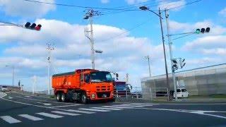 11月3日朝撮影 2014年10月31日製紙会社で大規模火災発生約6000㎡全焼.