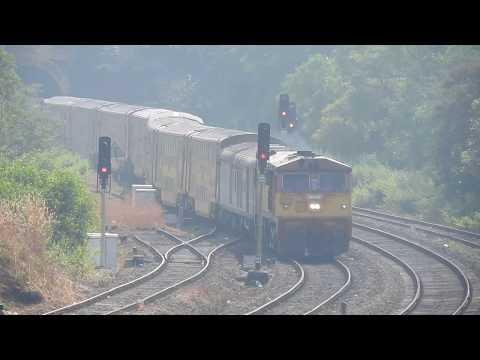Kalyan WDP3A 15517 With 11086 Madgaon LTT Double Decker Express Arriving Nivsar For Crossing
