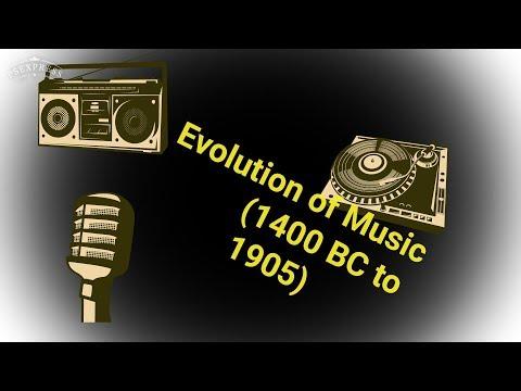 Evolution of Music (1400 BC - 1905 AD)