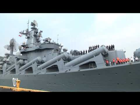 Russian guided missile cruiser arrives in Manila
