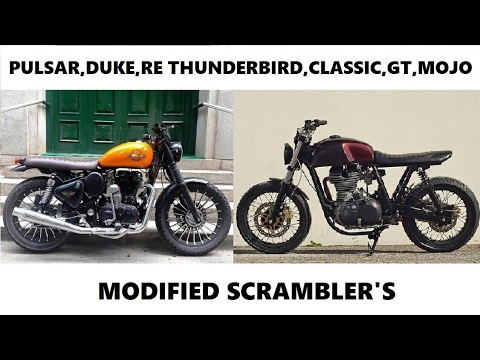 Top 10 Indian Bikes Modified To Scrambler Best Looking