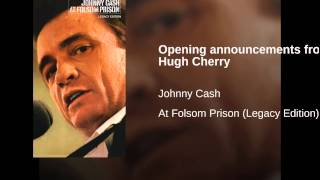 Opening announcements from Hugh Cherry
