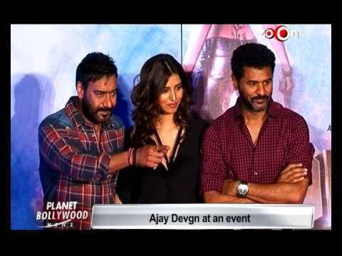 Ajay Devgan & Prabhudeva At Song Launch Of 'Action Jackson' | Bollywood News
