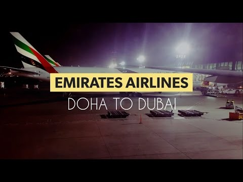 Smooth Landing by Emirates Airlines Economy class ✈ Doha to Dubai Full Flight ✈