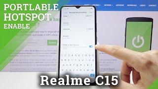 RealmeC15でポータブルホットスポットを作成する方法-インターネット接続を共有する