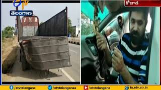 Small Injuries to TV Actor Chanti in Accident | at Kodad in Suryapet District