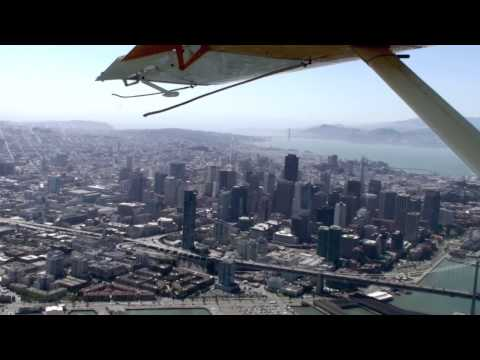 Seaplane flight over San Francisco