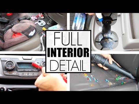 Car Detailing - How To Clean Car Interior Detailing - The Mini Van...