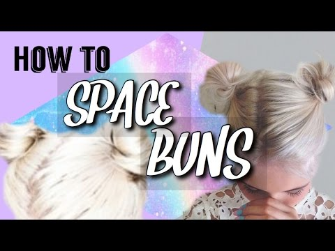 How to: EASY SPACE BUNS for thin hair | Kate'sOrdinaryLife