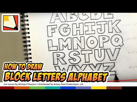 How To Draw Block Letters Alphabet