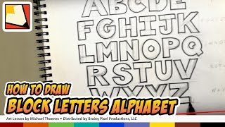 How to Draw Block Letters Alphabet - Hand Lettering - Art for Kids | BP