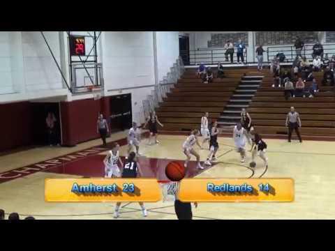 Amherst College Mammoths vs. Redlands Bulldogs Women's Basketball 1-1-18 Div 3