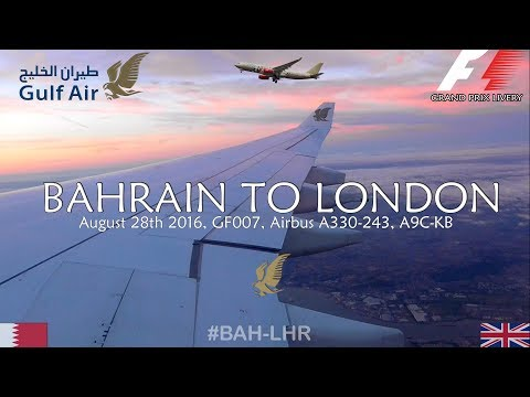 ✈FLIGHT REPORT ✈ Gulf Air, Bahrain To London, GF007, Airbus A330-243, A9C-KB