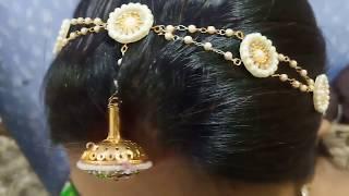 राजपूती ज्वेलरी की माथा पट्टी घर पर बनाएं/Rajputi jewellery/DIY jewellery/maang tikka/