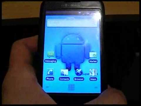 HTC g1 running Android 2.1 Super Eclair moded by XxKOLOHExX