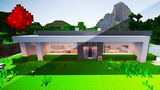 MY REDSTONE HOUSE  (w/ Secret Rooms, Hidden Redstone, Security Defenses, & More!)