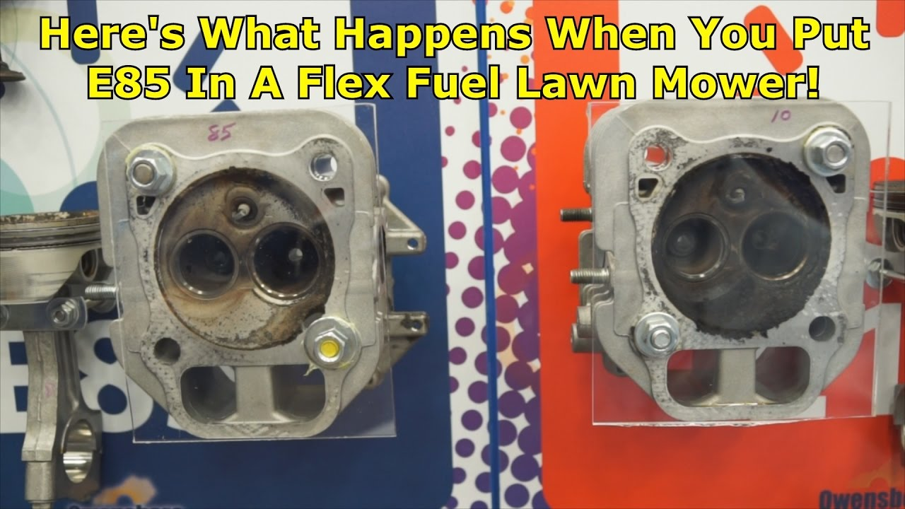e85 in a flex fuel lawn mower - wrenchin u0026 39  up