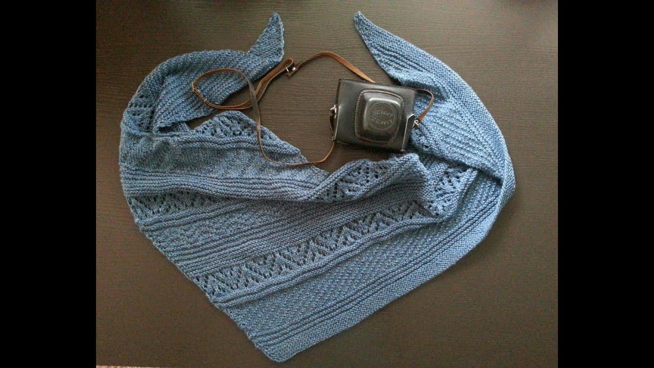 Скандинавский шарф спицами
