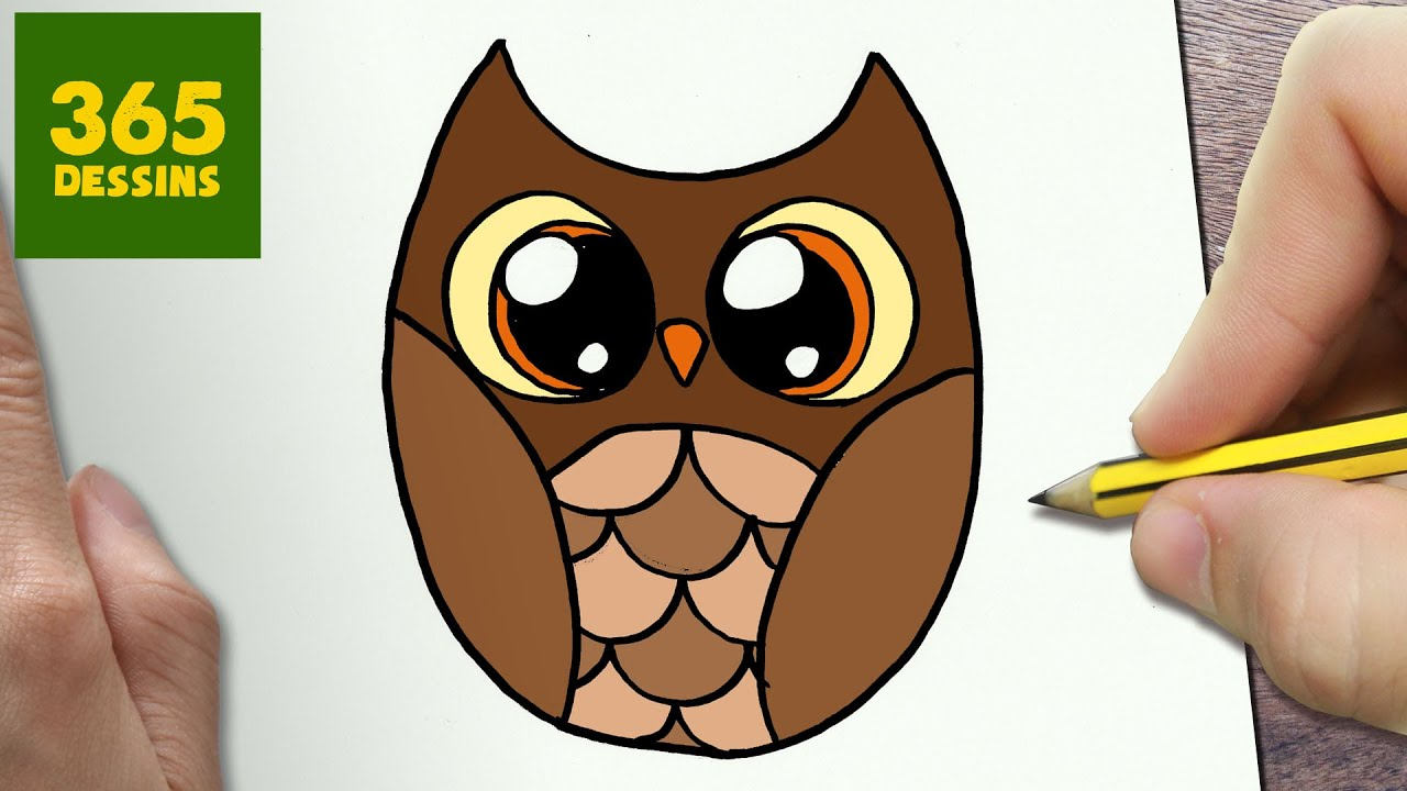 Comment Dessiner Hibou Kawaii étape Par étape Dessins Kawaii Facile