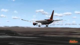 FS2004 Air India 777 Madrid Arrival