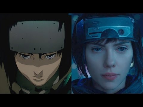 Ghost In The Shell Anime Vs Movie Trailer Comparison Youtube