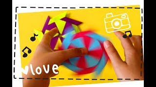 DIY | Origami Fidget Spinner How to make Ninja Star Fidget Spinner without a bearing
