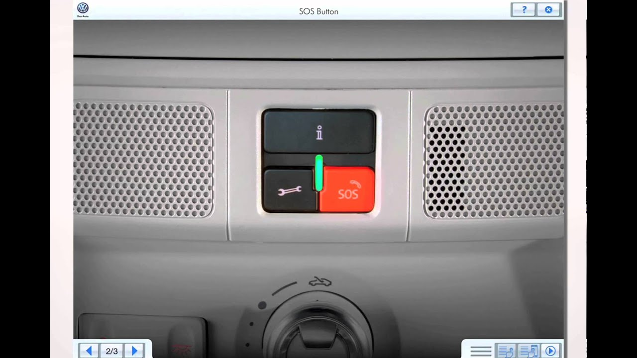 Volkswagen Car Net SOS Button YouTube