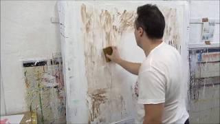 La pintura abstracta /  Fácil / Acrílicos / textura / Abstracto 17