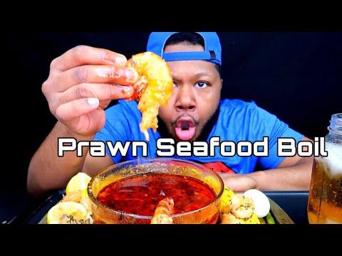 Prawns Seafood Boil Mukbang | with Dippin Dash Butter Sauce