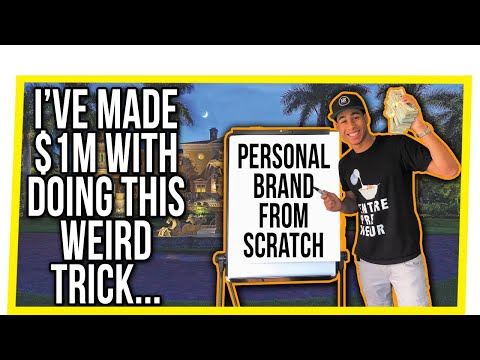 8 Simple Ways To Make Money Starting a PERSONAL BRAND From Nothing (I've Made $1M+ Doing This)
