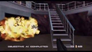 GoldenEye 007 00 Agent Playthrough (Actual N64 Capture) - Caverns