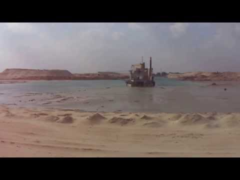 New Suez Canal: The scene of drilling in January 2015