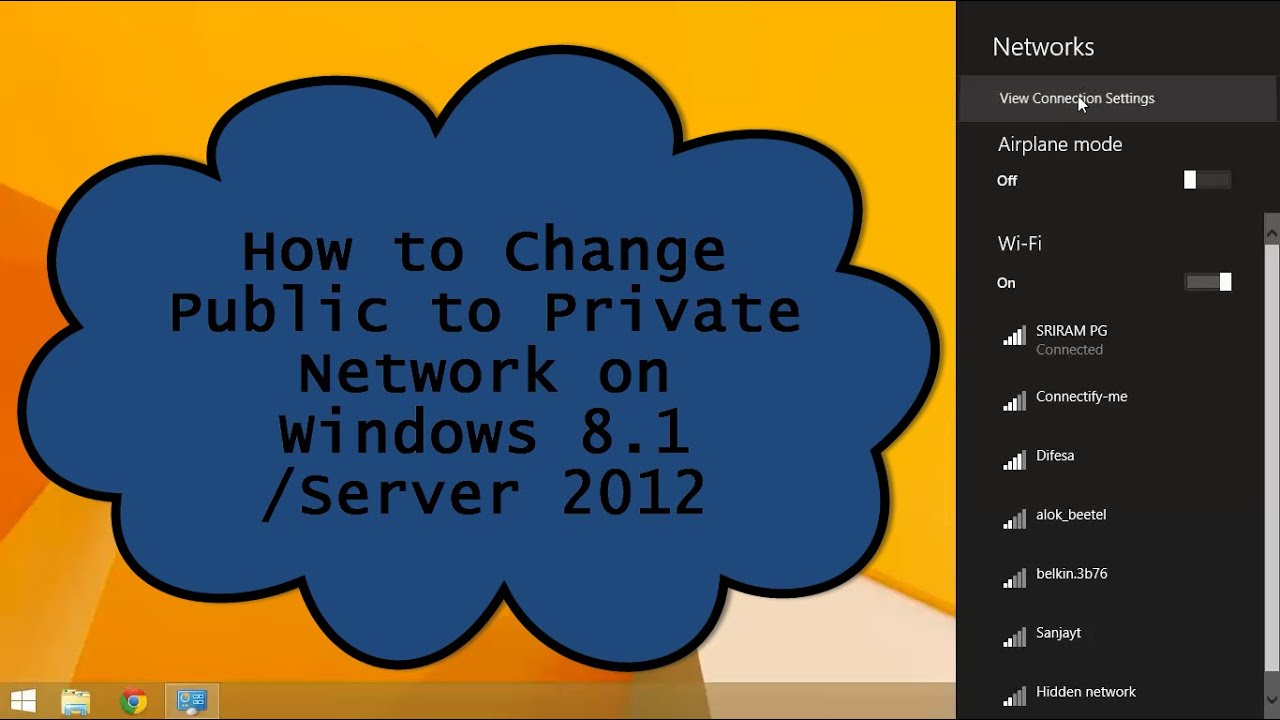 how to switch from public to private network windows 8.1