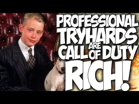 """COD BO2: PROFESSIONAL TRYHARDS ARE CALL OF DUTY RICH!!!  """"RAGER TROLLING"""""""