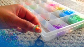 4 packs of rainbow loom rubber bands/S-clips