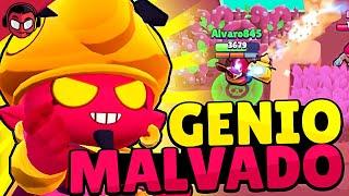 GAMEPLAY CON LA SKIN DEL GENIO MALVADO | Sneak Peek | Brawl Stars