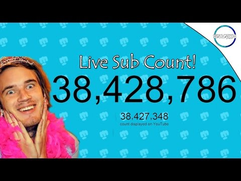 Pewdiepie and other youtubers live subscriber count!