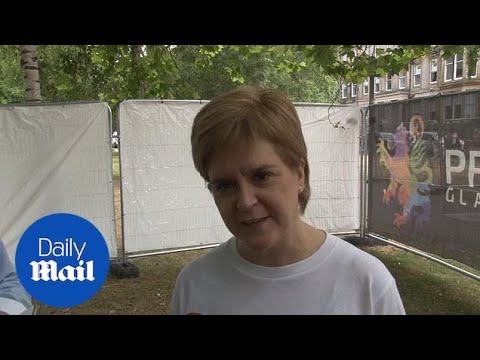 Nicola Sturgeon discusses Donald Trump at Glasgow Pride - Daily Mail