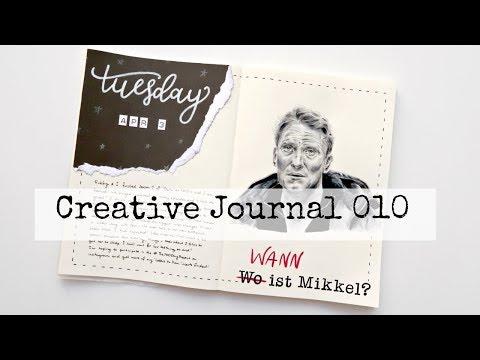 Creative Sketchbook Journaling With Me - Session 010 (Netflix Dark TV Series - Ulrich Nielsen)